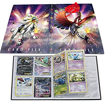 Card Album for Pokemon, Card Holder, Binder Cards Album Book Best Protection Trading Cards /GX EX Box/Put up to 240 Cards(Ho-Oh and Solgaleo): Toys & Games