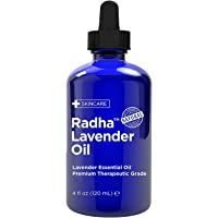 Radha Beauty - Lavender Essential Oil 120mL - 100% Pure & Therapeutic Grade, Steam Distilled for Aromatherapy…