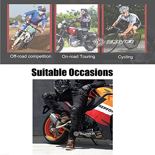 SCOYCO Motorcycle Knee & Albow Guards 4 pcs,with PP Shell Protection,Shin Protector Safe Cycling Racing Extreme Sport Equippment by SCOYCO (Image #6)