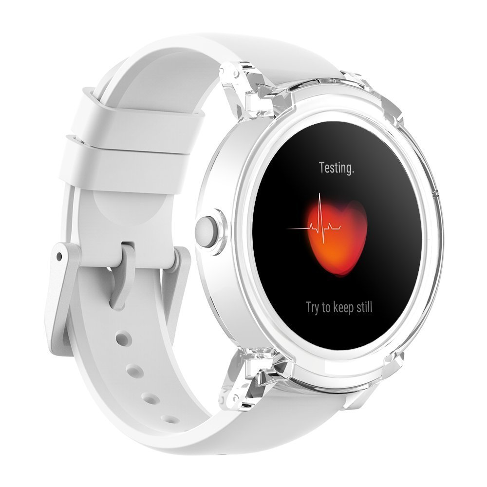 Ticwatch E Super Lightweight Smart Watch Ice,1.4 inch OLED Display, Android Wear 2.0,Compatible with iOS and Android, Google Assistant (Renewed)