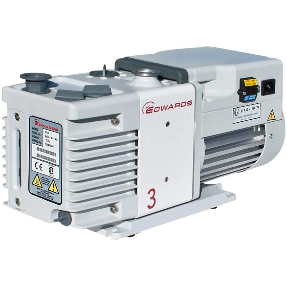 Edwards RV3 Vacuum Pump, Single Phase, 115/230 V, 50/60 Hz, Factory set to 115V for USA, Hydrocarbon Oil, A65201906