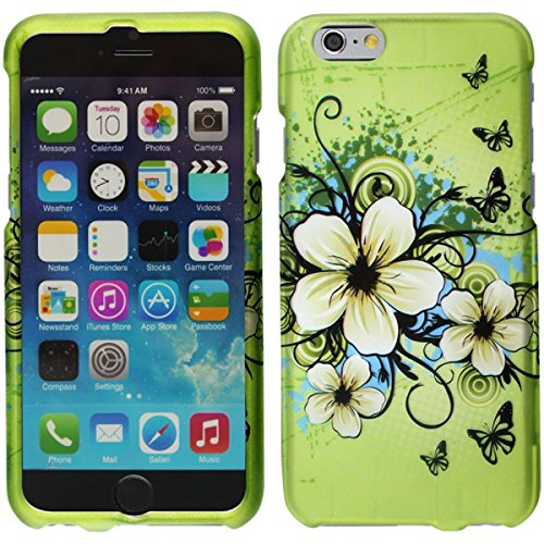 Phone Case For iPhone 6 - Rubberized Design Hard Snap-On Cover - Hawaiian Flowers DP