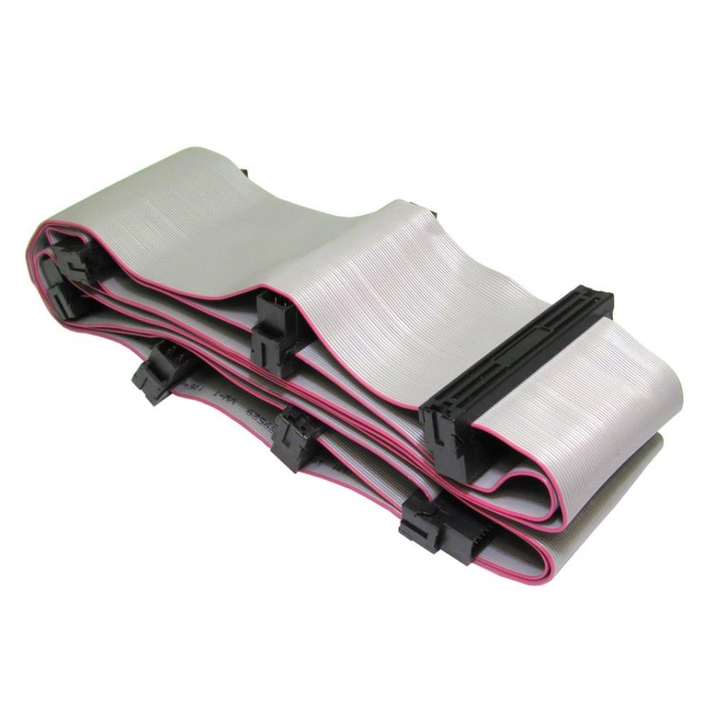 Bluecharge Direct SCSI 3 Internal Half Pitch 68 Pin Cable Lead - 7 Connectors - 6 Devices HP68SCSI3M-HP68SCSI3Mx6-1.4m-SCSI3-CBL