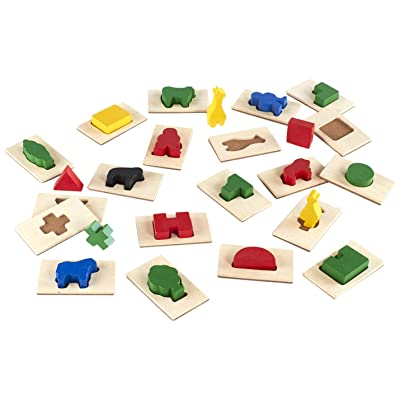 Guidecraft 3D Feel & Find Icons, Shape and Tile Matching Toy for Kids, Learning & Educational Toys: Toys & Games