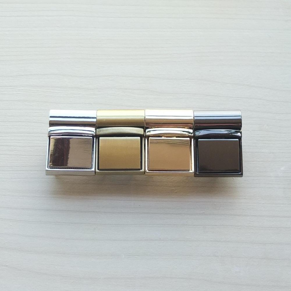 2/Sets Zi cierre Catch Tuck cierre Lock para funda de piel bolsa Hangbag bolso Tejido nailon bronce Light-Gold Gun-Black n/íquel