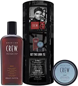 American Crew American Crew Essential Kit For Men, Fiber,7254112000,Black,S