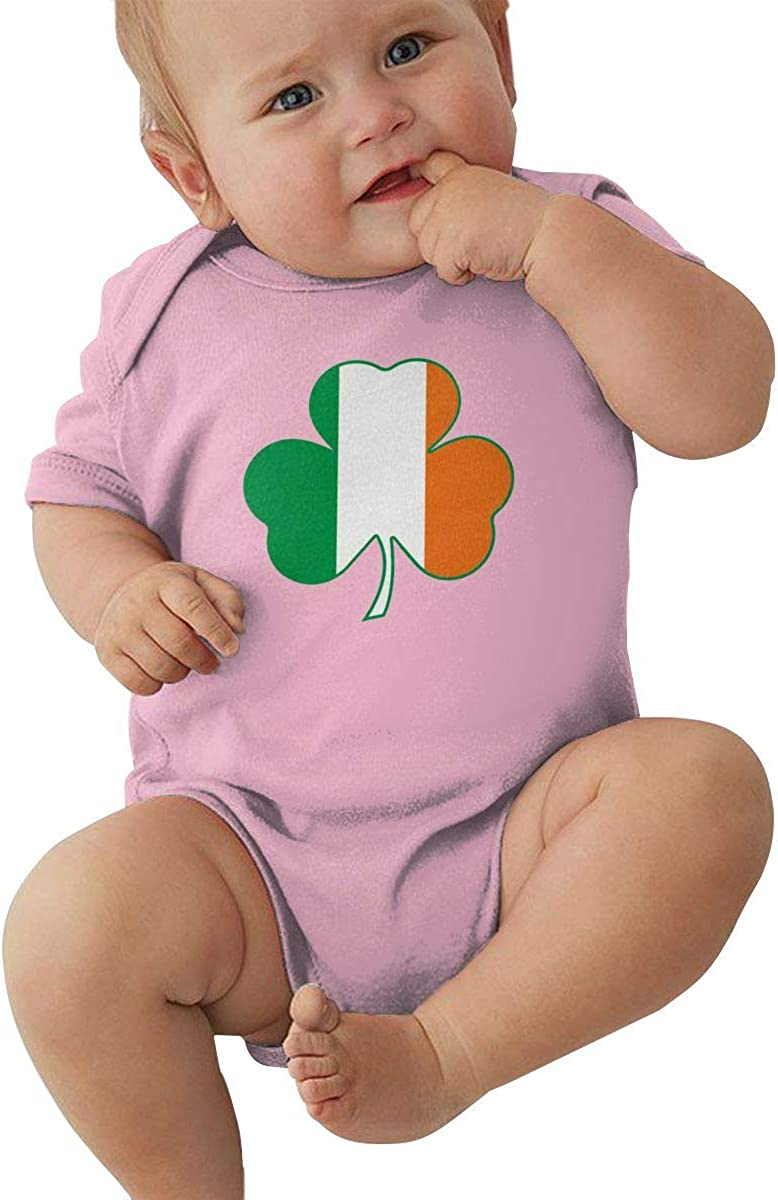 Green Irish Clover Flag Summer New Boy and Girl Universal Baby Jersey Jumpsuit Tights