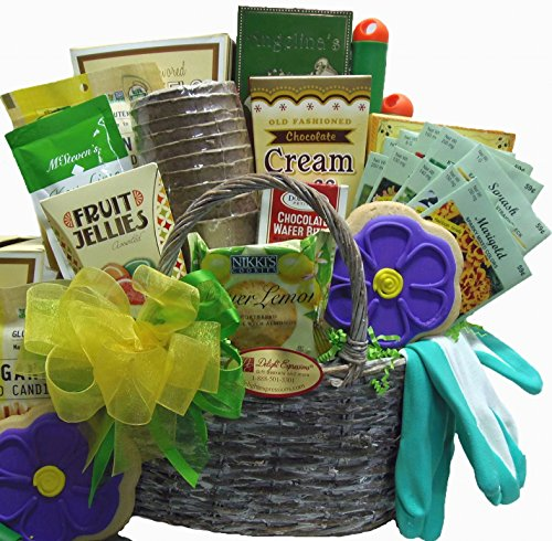 Delight Expressions® Garden Tools and Goods Tote Basket - A Mother's Day, Birthday or Get Well Gift