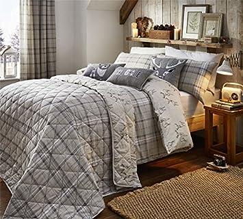 Bettwaren, -wäsche & Matratzen Einfach Gestreift Lila 100% Gebürstete Baumwolle Einzel Bettwäsche Bettwäsche