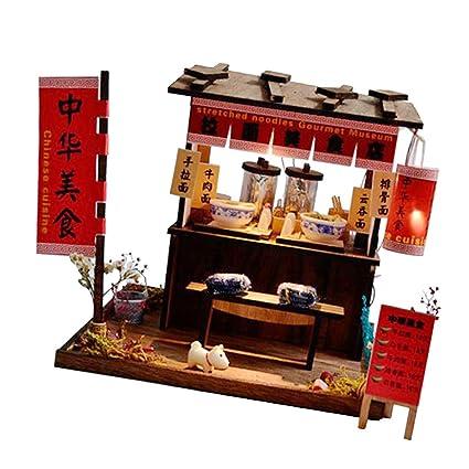Amazoncom Sm Sunnimix 124 Diy Wooden Dollhouse Miniature Kits
