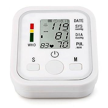 LQUIDE Tensiometro De Brazo Digital,Máquina Heart Beat Meter, Esfigmomanómetro Digital Lcd, Cuidado