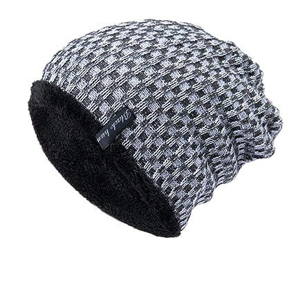 d185ba0034a Amazon.com  Longay Men Women Baggy Warm Crochet Winter Wool Knit Ski Beanie  Skull Slouchy Caps Hat (White)  Arts