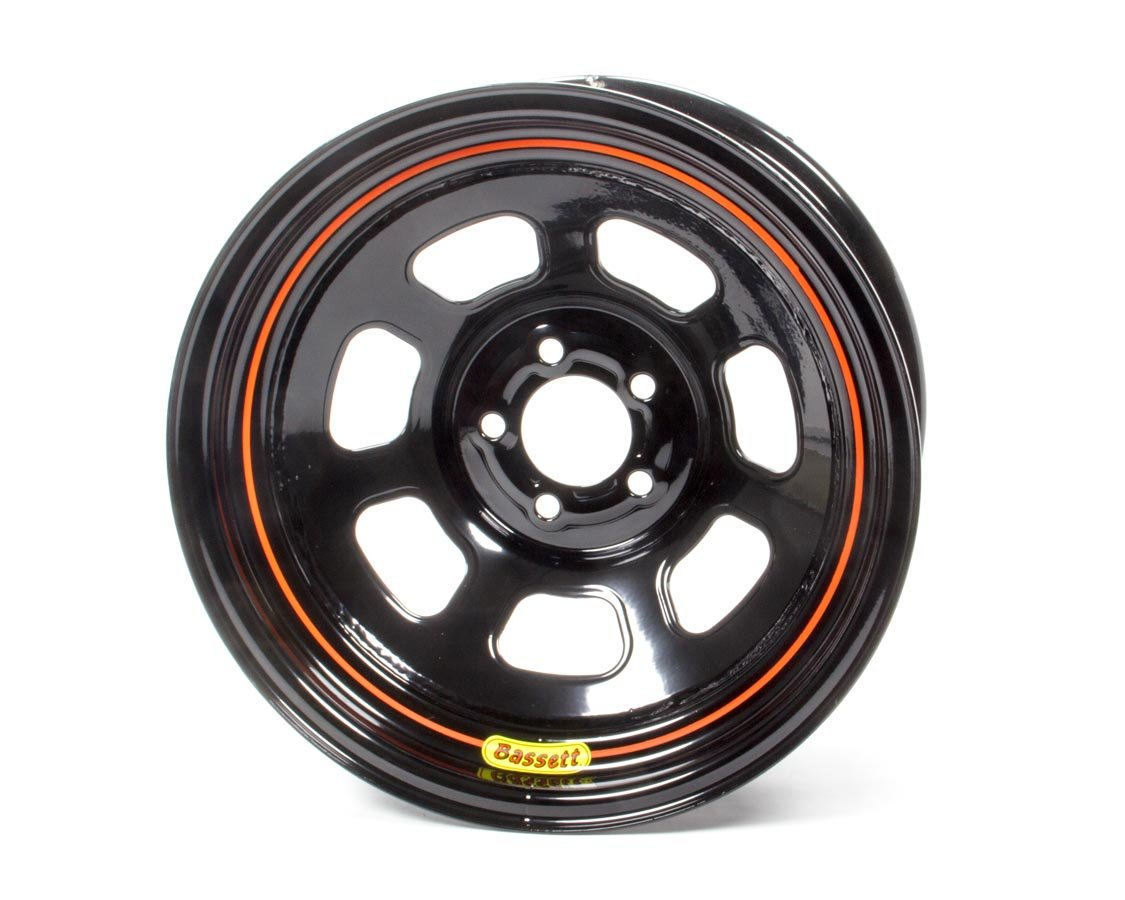 BASSETT 57SN3 Wheel 15x7 5x100mm D- Hole 3in BS Black by Bassett (Image #1)