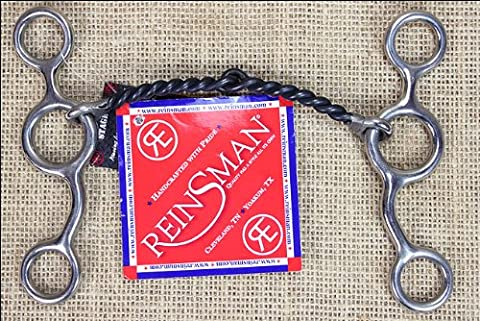 REINSMAN JUNIOR COW HORSE 5/16 INCH SMALL TWISTED SWEET IRON HORSE SNAFFLE BIT - Reinsman Junior Cow Horse