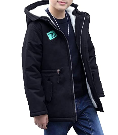 new product buy online choose genuine MILEEO Boys Kids Children Warm Hooded With Fur Outerwear Winter Coat Jacket  Clothes Suitable For 4-14 Years Old