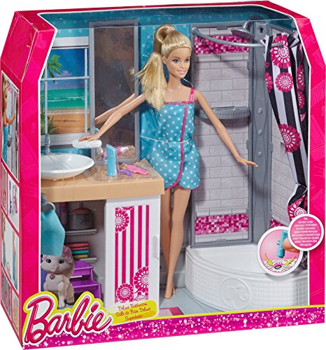 Barbie Doll and Bathroom Furniture Set