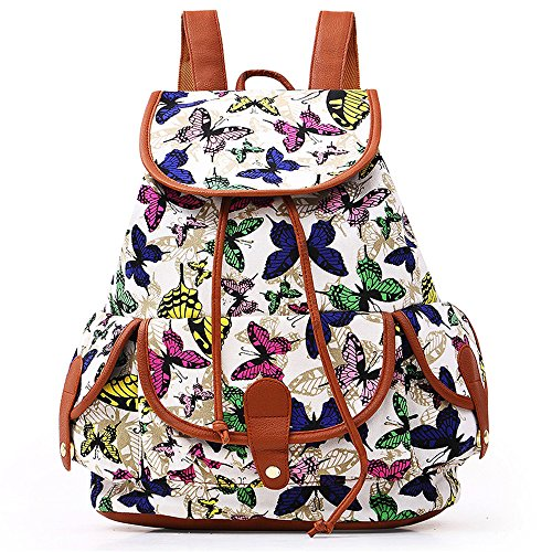 VESNIBA LLC Fashion Bags Canvas Backpack For Women Girls Boys Casual Book Bag Sports Day Pack