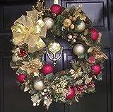 Vickerman Camdon Unlit Fir Wreath, 24-Inch, Green