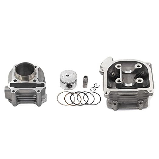 GY6 Engine parts for Chinese Scooter GY6 Cylinder Rebuild Kits Trkimal 47mm 80cc Big Bore Upgrade Kits for 49cc 50cc 139QMB Engines 64mm Valve scooter moped parts 64mm Valve Length