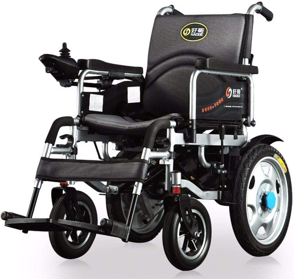 Sillas De Ruedas Eléctricas Ancianos Discapacitados Médicos Domésticos Plegables Scooter Ligero De Ancianos Sección Básica [Absorción De Choque] Plomo Ácido 12Ah (Recomendado)