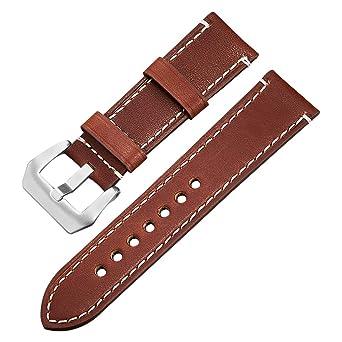 Vintage 20mm Handgemachte Braun Ersatzarmband Uhrenarmbänder shxoQrdtCB