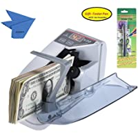 Aibecy portable Mini Handy Bill Cash Banknote Counter Money Currency Counting Machine AC or Battery Powered