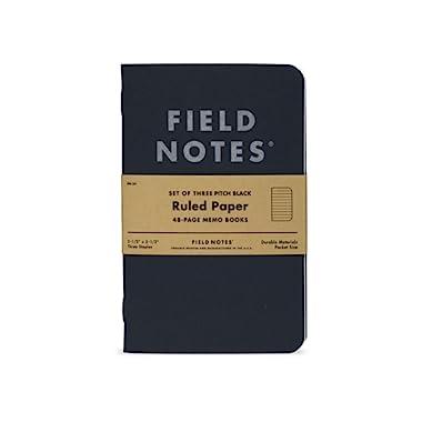 Pitch Black Ruled Memo Book 3-Pack (3-1/2  × 5-1/2 )