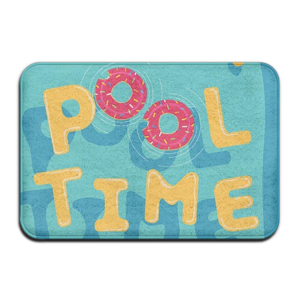 BINGO BAG Pool Time Indoor Outdoor Entrance Printed Rug Floor Mats Shoe Scraper Doormat For Bathroom, Kitchen, Balcony, Etc 16 X 24 Inch by BINGO BAG