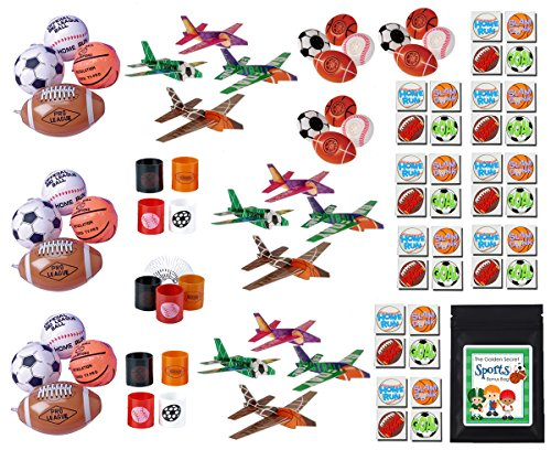 84 Piece Sports Themed Birthday Party Favor Bundle Assortment Pack for 12 Kids (Used Arcade Basketball Game For Sale)