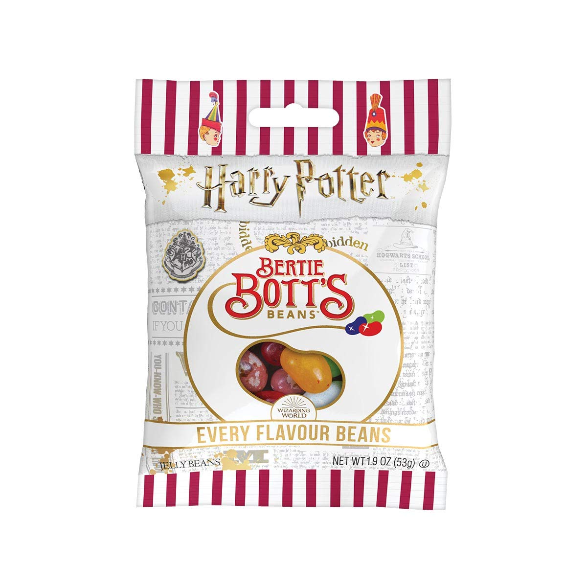Jelly Belly Harry Potter Bertie Bott's Every Flavor Jelly Beans, 1.9-oz, 12 Pack