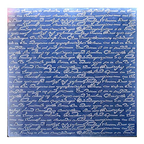 Kwan Crafts Large Size Letters Plastic Embossing Folders for Card Making Scrapbooking and Other Paper Crafts, 19.8x19.8cm (Word Embossing Folder)