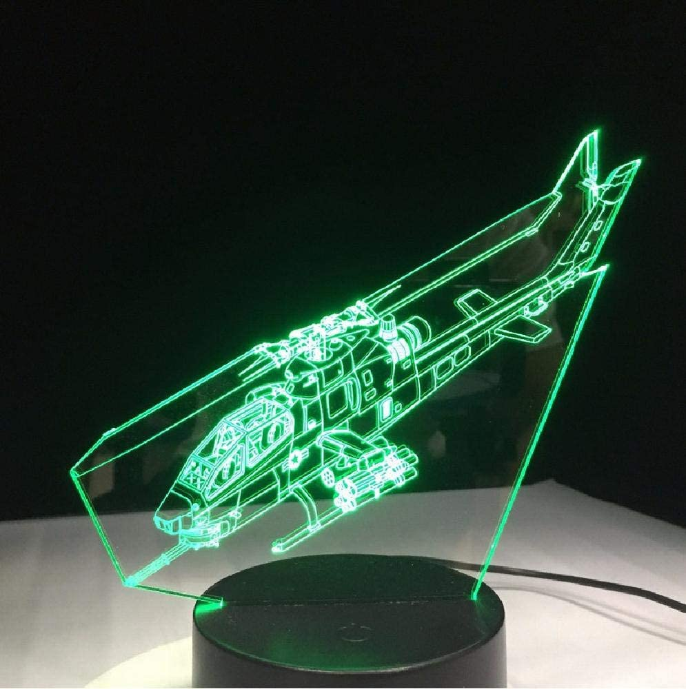 Planeador Helicóptero Luz Led 3D Aviones Pequeños Luz Nocturna 3D 7 Colores Adecuado Para Dormitorio Familiar Niños El Mejor Regalo Para Año Nuevo Día De San Valentín Cumpleaños De Acción De Gracias