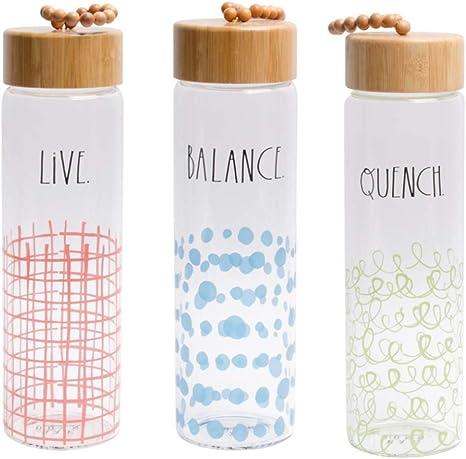 MMS Gifts RAE Dunn - Botella de Agua (22 onzas, sin BPA, con ...