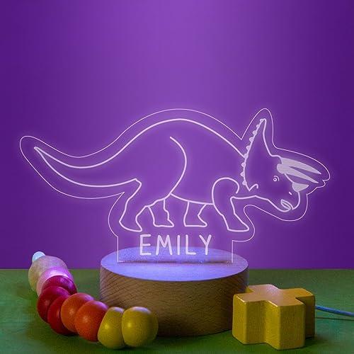 Amazon Com Personalized Triceratops Dinosaur Night Light New Baby