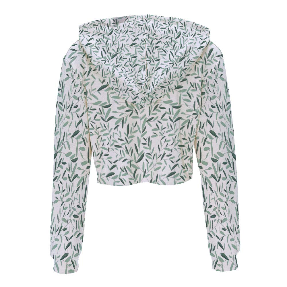 Sweatshirt Women 3D Pullover Sweatshirts S//M Green Pale Green WhiteOmbre Style