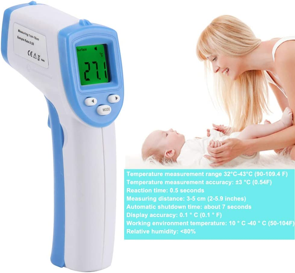 Thermometers,TTAA Baby//Adult Digital Thermometer Infrared Forehead Body Non-Contact Temperature Measurement Tool