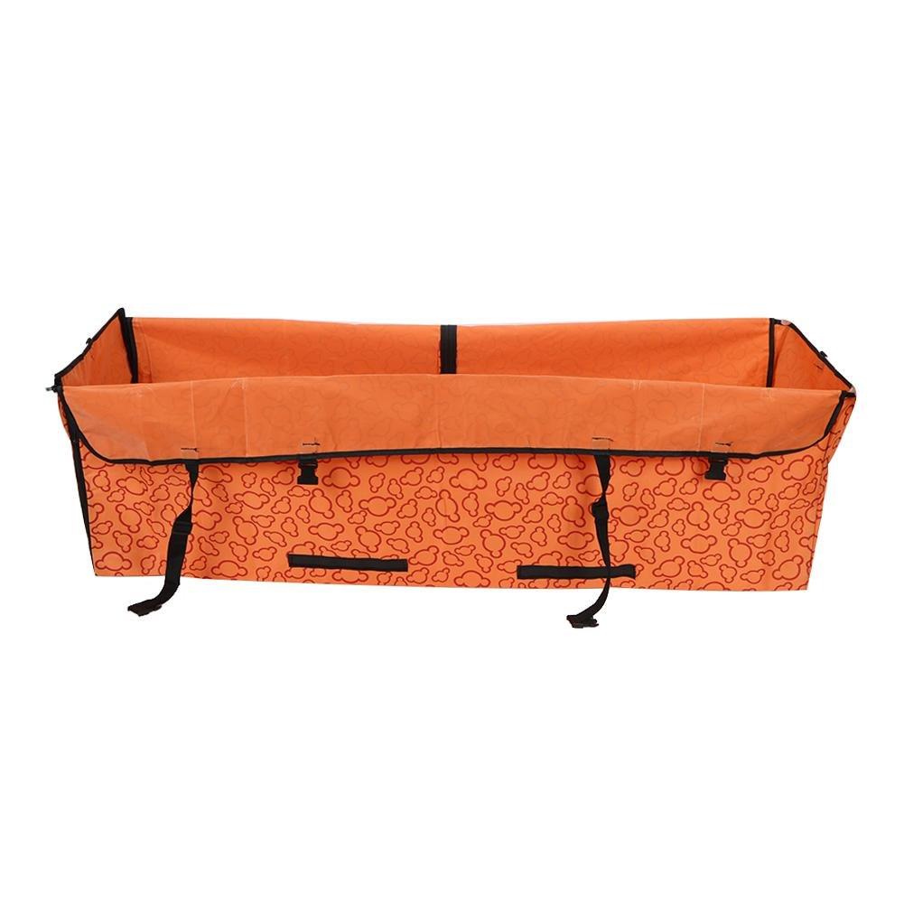 DomyBeste Foldable Car Back Seat Pet Dog Cover Cushion With Safety Belt(orange)