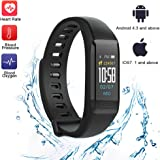 TEYO Fitness Tracker, Activity Tracker with Heart Rate Monitor Blood Pressure Test,Camouflage Color Smart Watch Wristband Pedometer Watch Kids Women Men for Android iOS