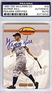 George Kell Autographed 1993 Ted Williams Company Card #39 Detroit Tigers #83716430 - PSA/DNA Certified