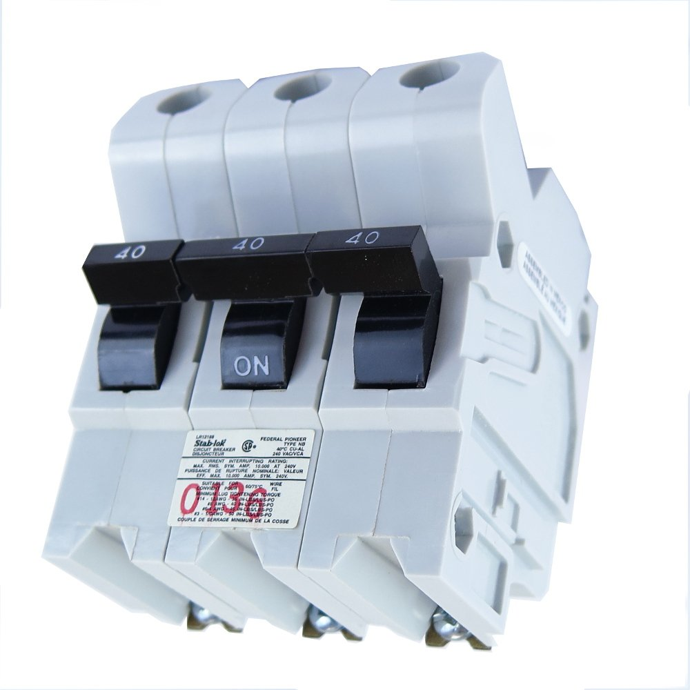 FEDERAL PACIFIC NB3P40 FPE Bolt-on Circuit Breaker 3 Pole 40 Amp 240V Fits NB232040