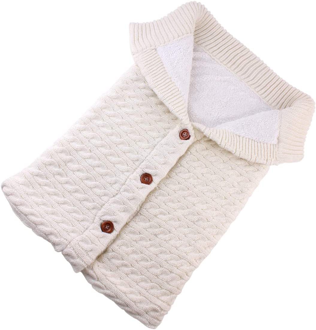 suave y c/álida saco de dormir y cochecito de beb/é blanco blanco Talla:talla /única Manta de forro polar para cochecito de beb/é reci/én nacido