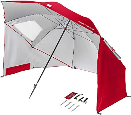 Portable Sun and Weather umbrella Shelter Sport or Beach Canopy Tent 8 Foot