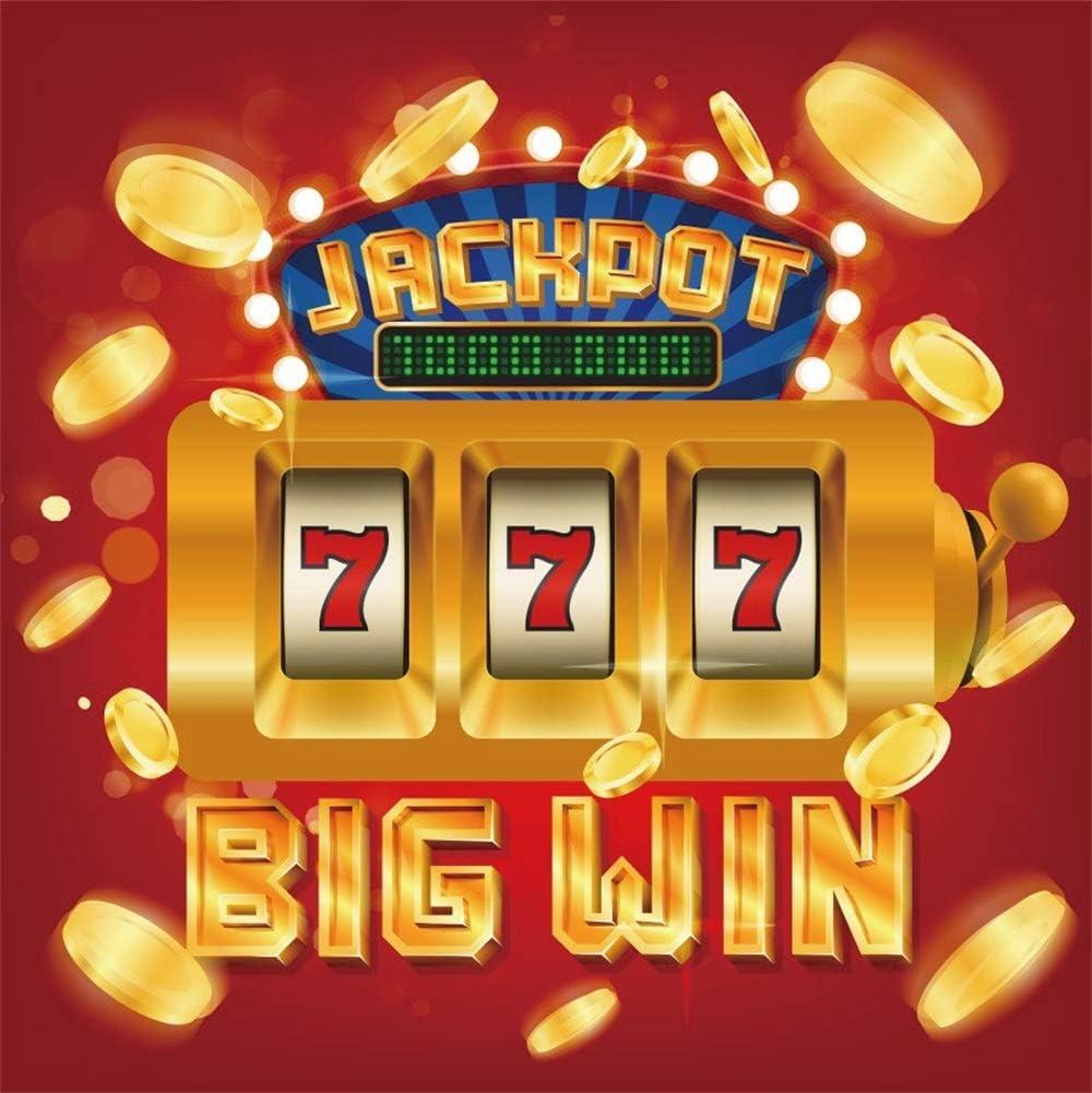 Amazon Com Aofoto 6x6ft Big Win Slots Jackpot 777 Casino