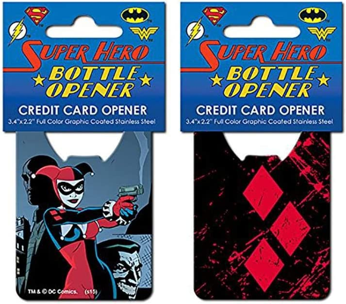Batman Harley Quinn Iconic Credit Card Bottle Opener by Adventure Trading