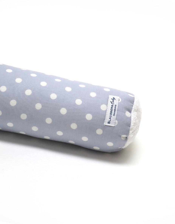 - Materialien OEKO-TEX/® Standard 100 zertifiziert 100/% made in Hamburg Bettschlange Nestchen Bettumrandung Kantenschutz Kopfschutz f/ür Baby- und Kinderbett Grau Punkte Blausberg Baby 60 cm