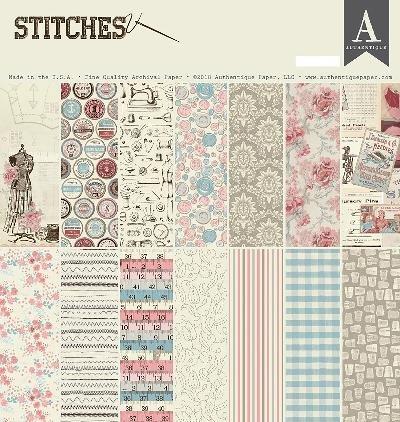 "Authentique Paper STI013 12"" x 12"" Authentique Double-Sided Cardstock Pad (27 per Pack), Multicolor"