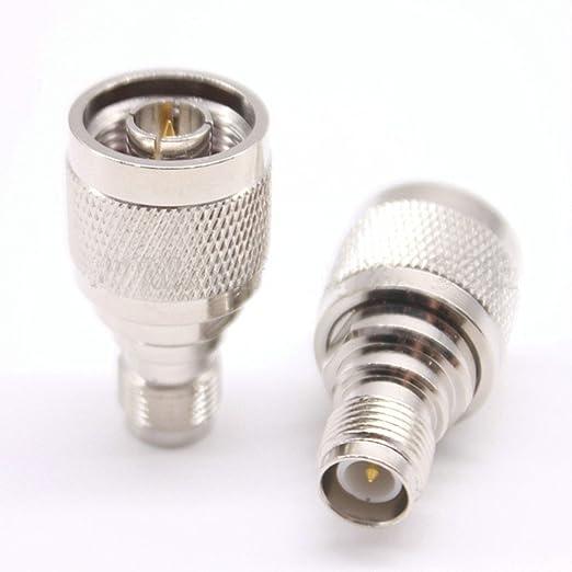 2 Pack N Male To RP TNC Female Jack Coax Adapter Low Loss RP TNC Female to N Male Adaptador RF Coaxial adaptador Coax Jack Connector: Amazon.es: Bricolaje y ...