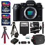 "Fujifilm X-T1 16 MP Compact System Camera with 3.0-Inch LCD (Body) + 2x Transcend 32 GB SDHC + 72"" Tripod + Flash + Flexible Tripod + Spare Battery + Gadget Bag + Accessories"