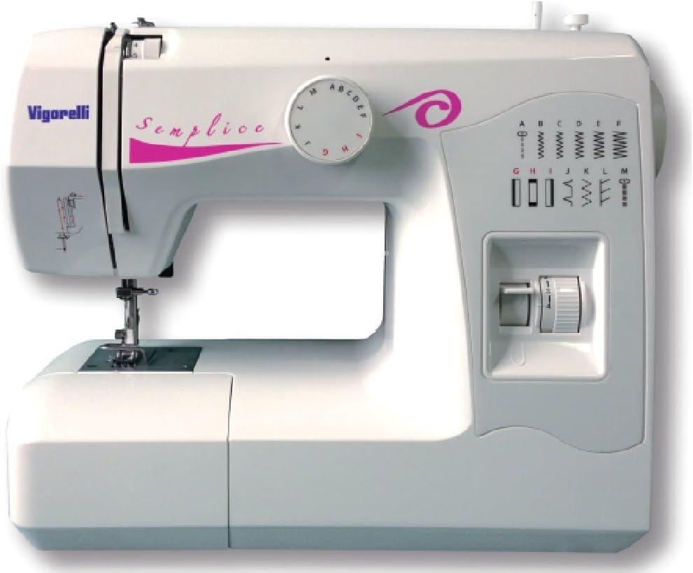Vigorelli VS1 Eléctrico - Máquina de coser (Blanco, Costura, Paso 4, Giratorio, Barra de desplazamiento, Eléctrico ...