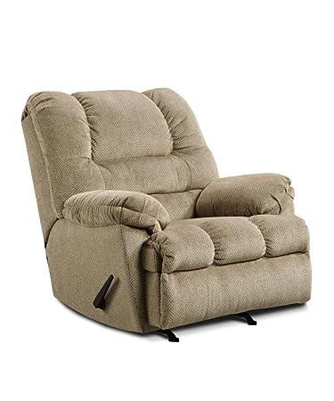 Amazoncom Simmons Upholstery U600 19 Zig Zag Tan Rocker Recliner